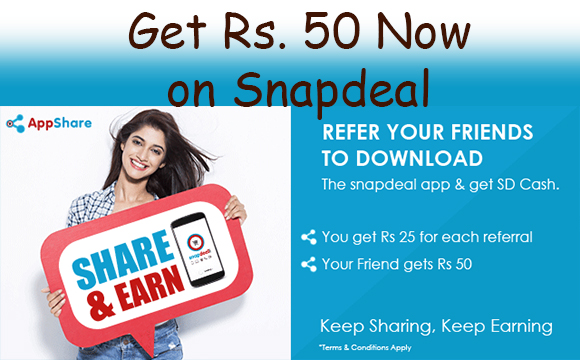 Snapdeal get Rs 50 discount