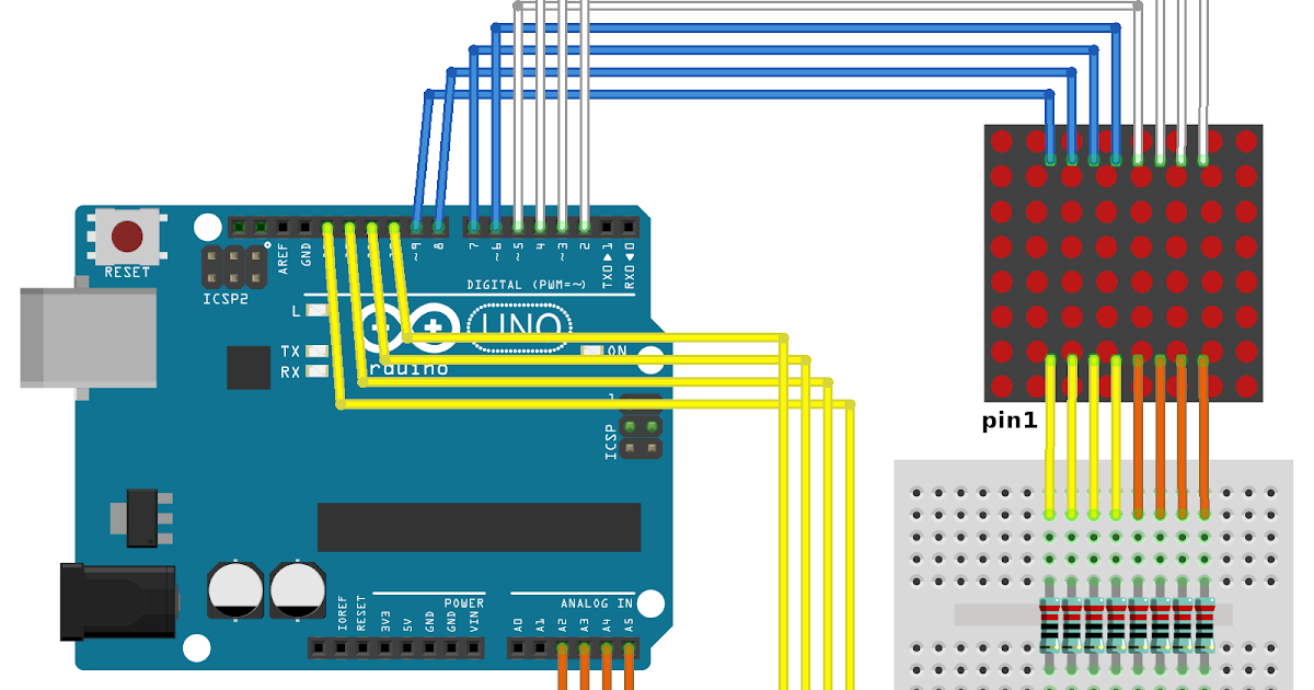 A Simple LED Dot Matrix Display Anyone Can Make Anywhere