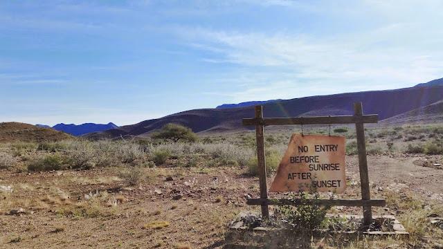 Entrance to Naukluft Mountain Zebra Park