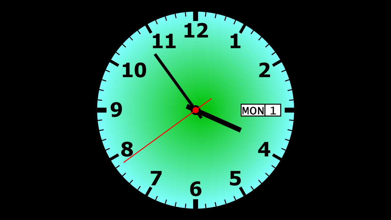 Совет 1: Как установить часы на рабочем столе 11