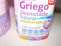 Yogur estilo griego desnatado natural edulcorado DIA