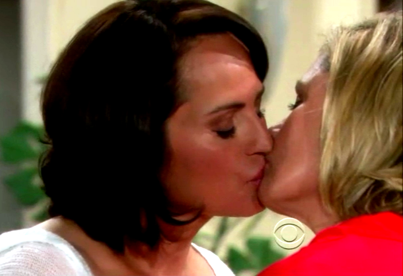 first lesbian kiss in its first gay storyline in its 25 year history