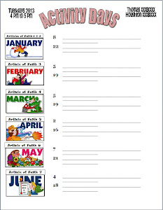 Calendar 2013 Jan-June