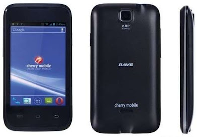the updated price and specs of Cherry mobile rave