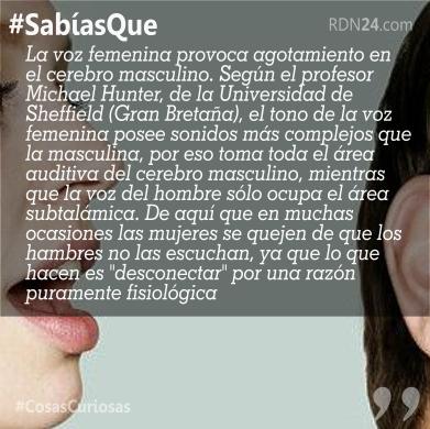 #SabíasQue La voz femenina provoca …