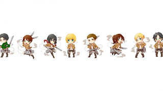 Attack on Titan Shingeki no Kyojin Levi Eren Jaeger Mikasa Ackerman  Armin Arlert Sasha Browse Annie Leonhardt Anime Chibi Sword Blade HD Wallpaper Desktop Background