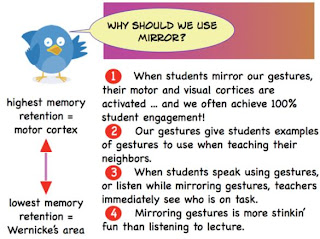 whole brain teaching strategies, classroom management, mirror, student engagement