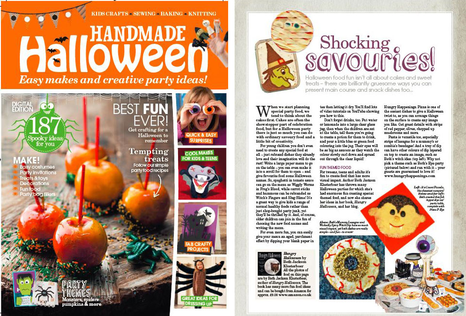 handmade halloween article about my savory halloween recipes - Article About Halloween