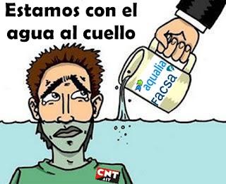 CNT contra Facsa Aqualia en la depuradora de Mazarrón