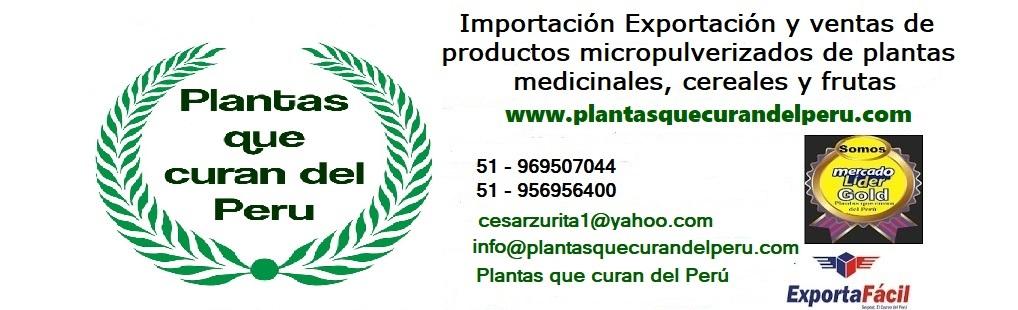 Plantas que curan  del PERU