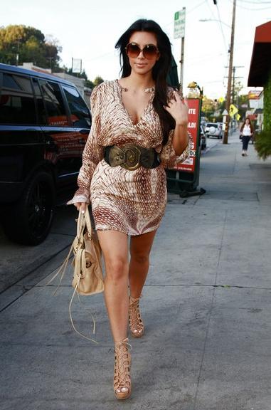 Kim kardashian long casual dress