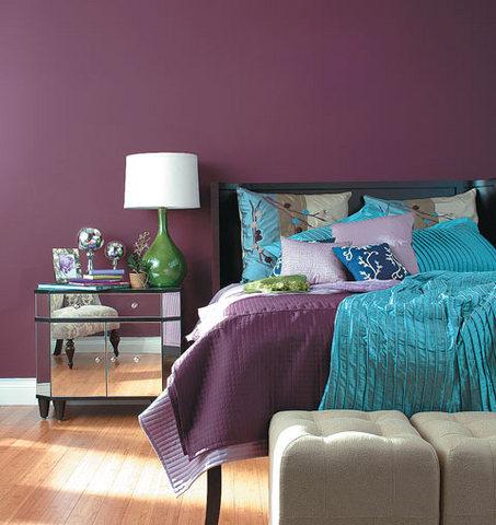 stars and quills purple wine violet or plum bedroom design ideas