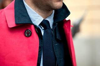 Styl casual - krawat dziany