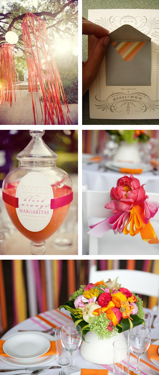 Charcoal Grey and Raspberry Wedding Inspiration Board