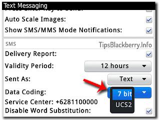 Cara Mengatasi SMS BlackBerry cuma 70 Character bukan 160 Character