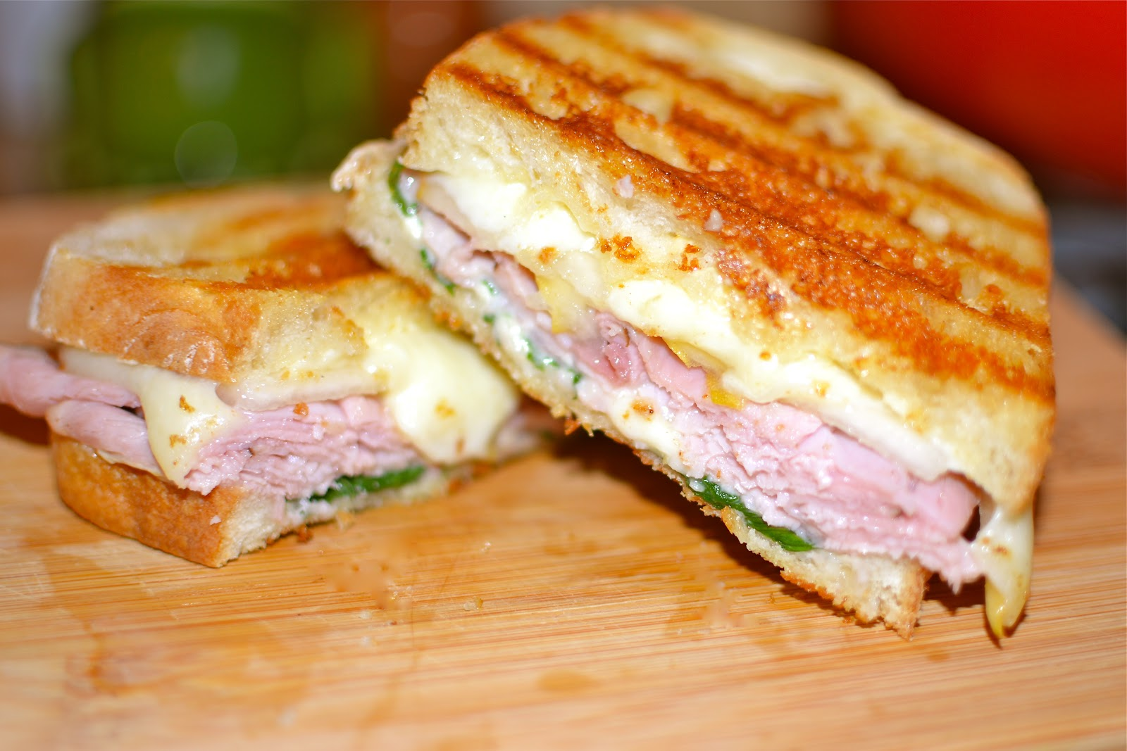 Southern Soul: Ham & Cheese Panini's with Pears & Spinach