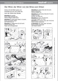 Freiarbeit in der Grundschule: Wetter Grundschule Sachunterricht ...
