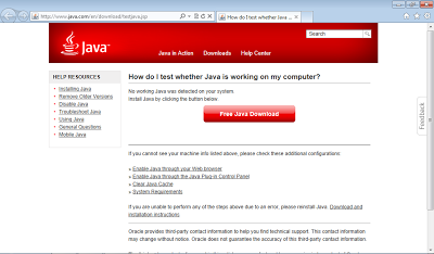 IE without Java or Java is disabled