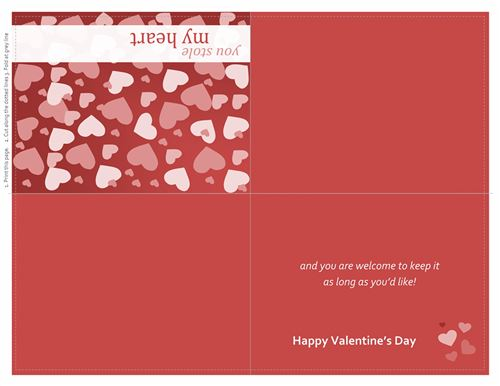 Beautiful Valentine's Day Gift Cards Templates