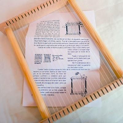 Telar de madera de juguete waldorf del taller coscoja