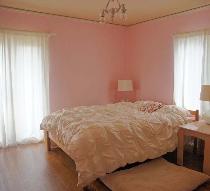 Light Pink Bedroom Slightest hint of pink.