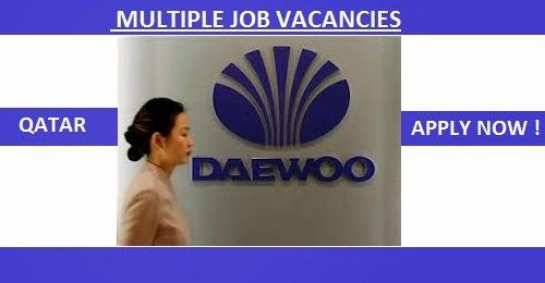 DAEWOO ENGINEERING & CONSTRUCTION COMPANY JOB OPENINGS | QATAR - JOB
