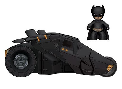 The Dark Knight Batman 2 Inch Mini Mez-Itz with Tumbler Vehicle Set