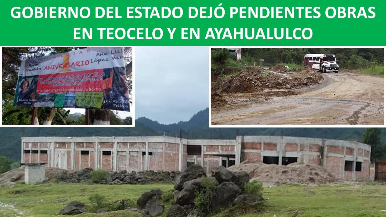 OBRAS EN TEOCELO Y EN AYAHUALULCO
