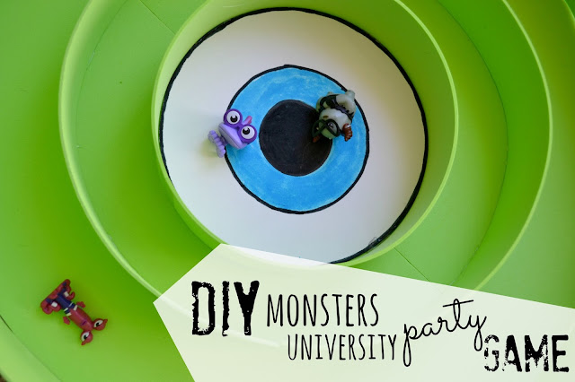 Monsters University Party Game, DIY Mike Wozowksi, DIY Monsters University, DIY monsters university party game,