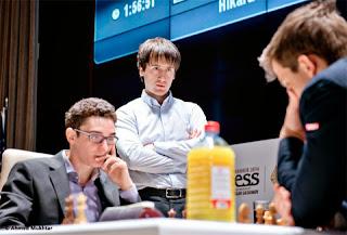 Echecs : Magnus Carlsen impressionne ses adversaires Caruana et Radjabov au Mémorial Vugar Gashimov - Photo site officiel