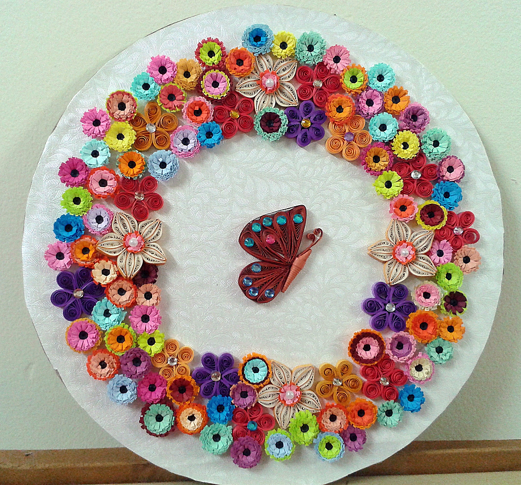 Quilling wall art frames model and designs quilling designs for Quilling designs