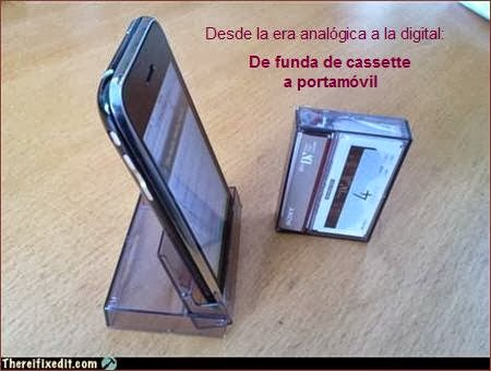 De funda de cassette a portamóvil