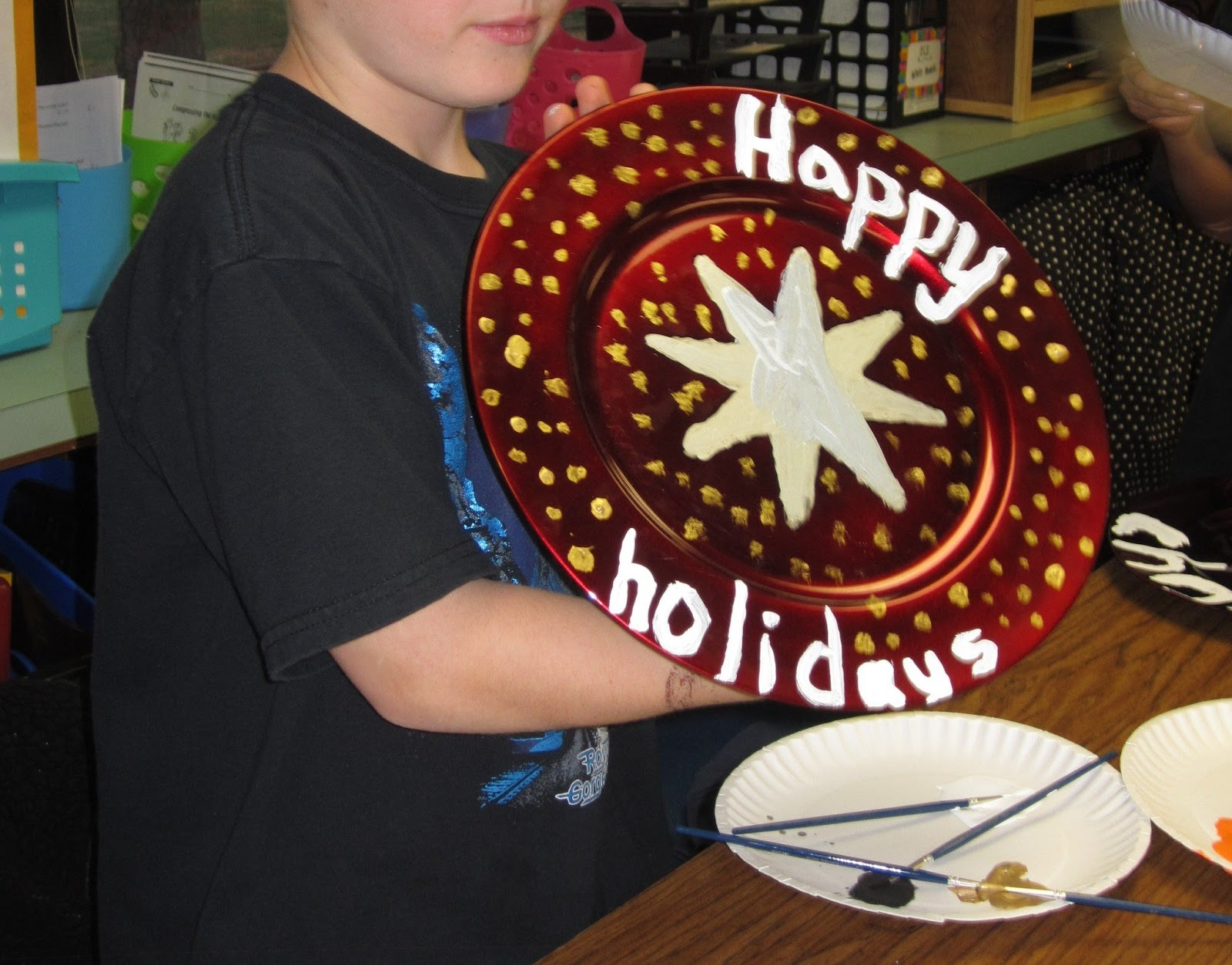 3rd Grade Christmas Craft Ideas Part - 40: Getting Crafty With Painted Plates