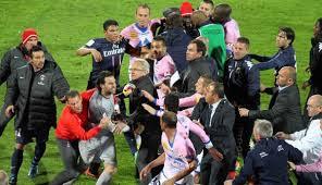 Bagarre Générale Evian vs PSG