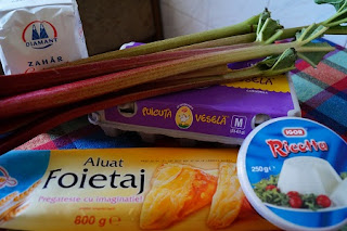 ingrediente Tarta cu ricotta si rubarba