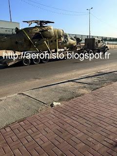 Транспортировка иракского вертолета Ми-35М после вынужденной посадки