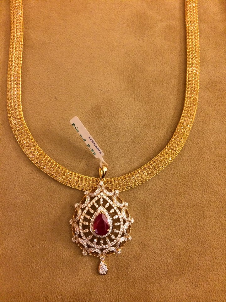 Jewellery Designs Gold Mesh Chain Designs With Simple