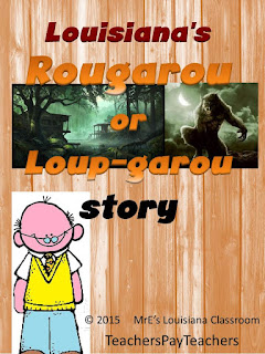 https://www.teacherspayteachers.com/Product/LOUISIANA-Rougarou-or-Loup-garou-Writing-Assignment-2137139
