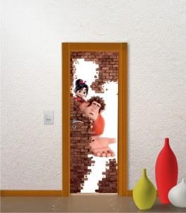 modelo diferente de adesivo porta