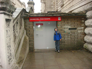 Michael McGerty's picture in front of the Churchill War Rooms, London