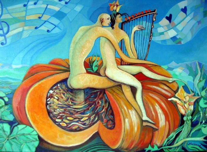 Autumn Symphony | Umberto Mazzone 1941 | Italian surrealist painter