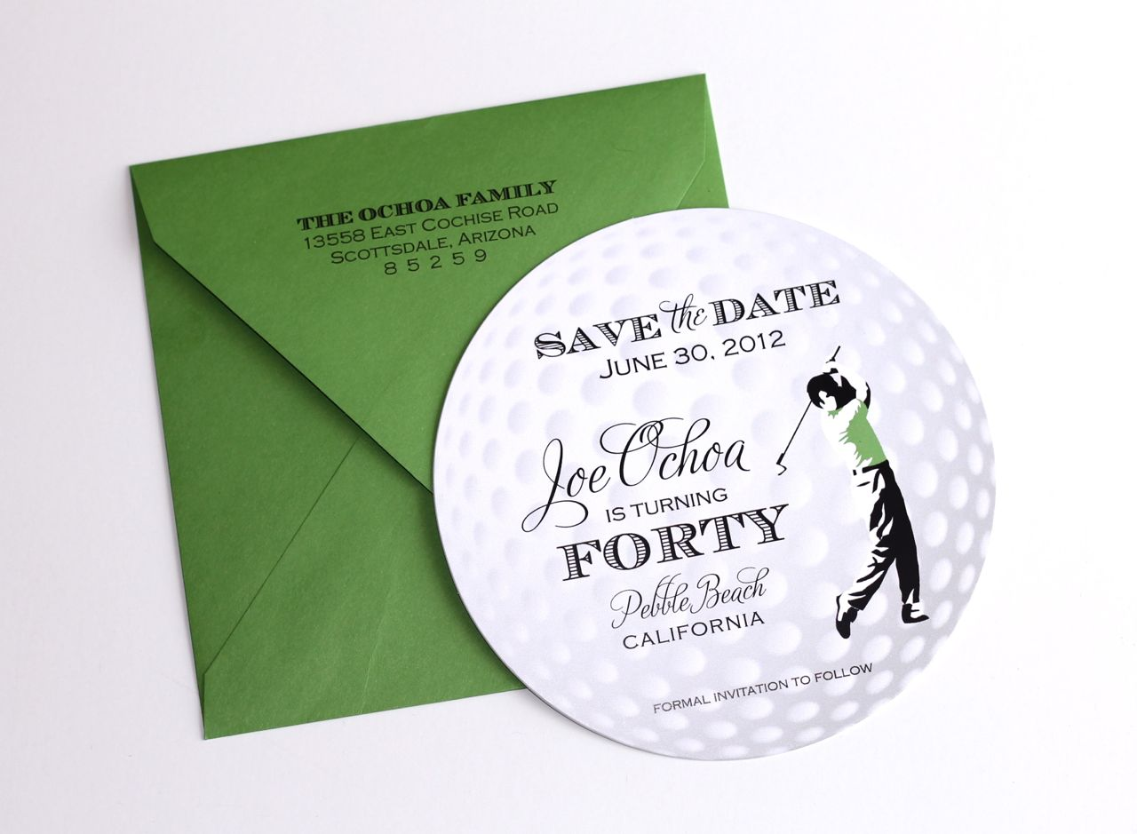 40th birthday golf themed invitations embellished paperie llc 40th birthday golf themed invitations filmwisefo