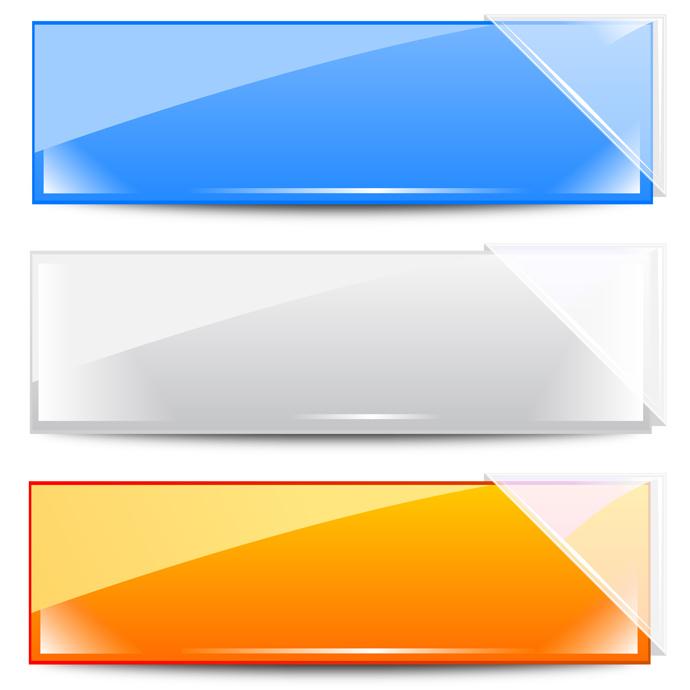 ガラスのバナー Set of clear vector ...