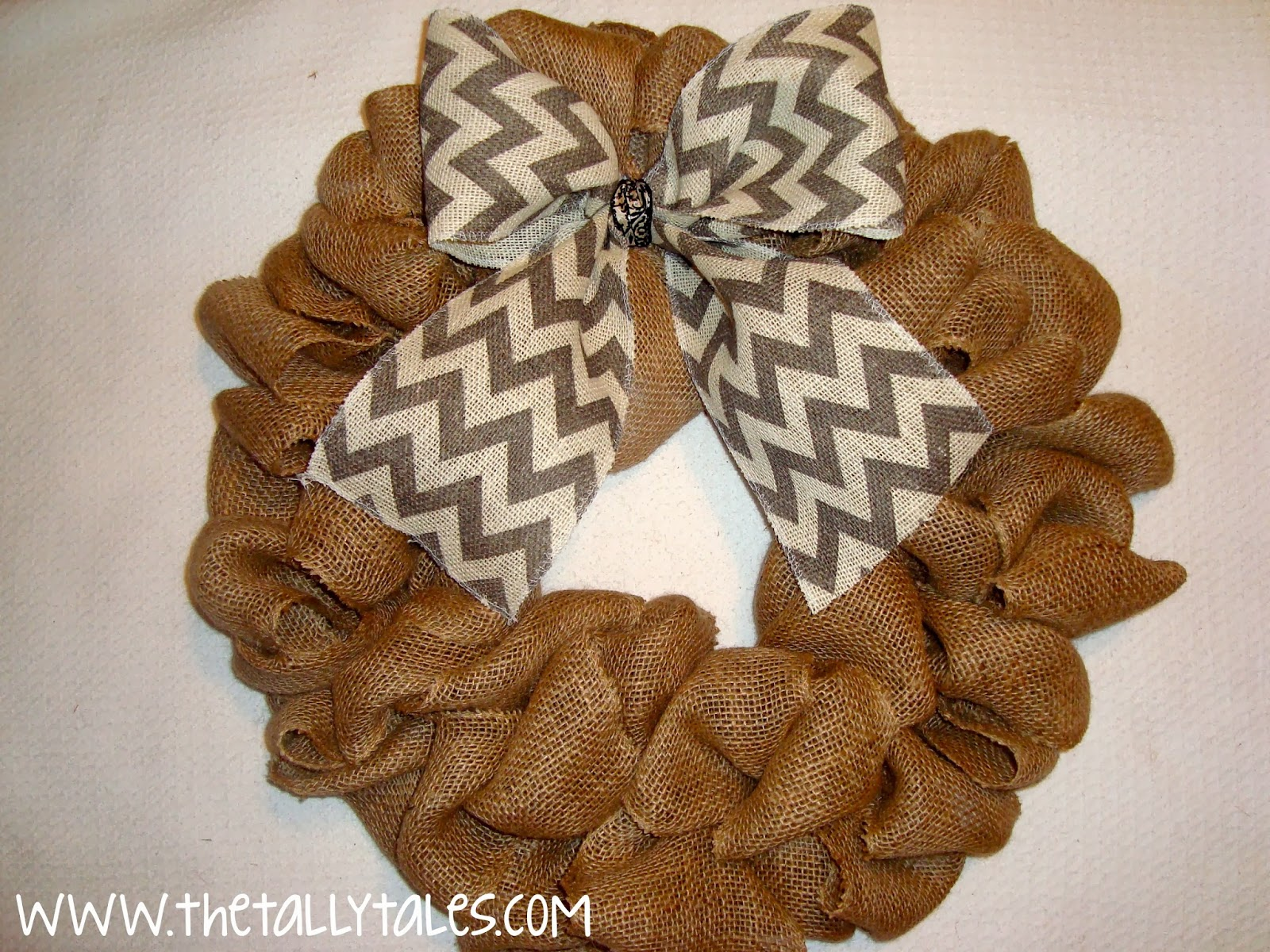 tally tales the secret to making a fluffy burlap wreath