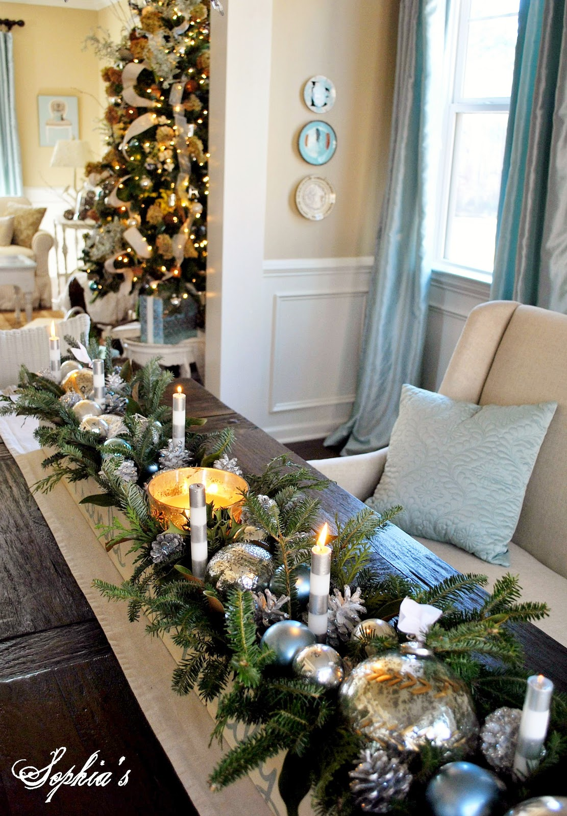 Sophia 39 s christmas home tour 2012 - Presentation de table de noel ...