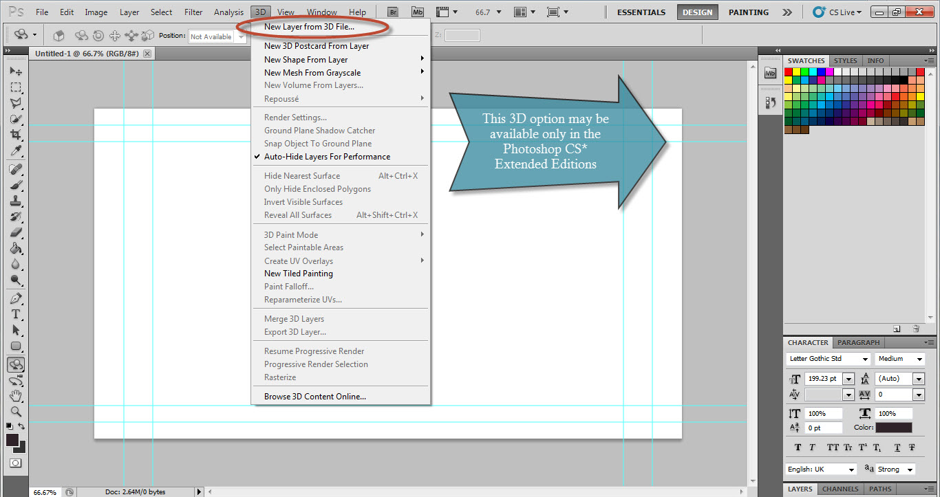 open the 3d model from the dialog box that appears