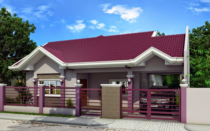 15 beautiful small house designs for Simple bungalow house design with terrace