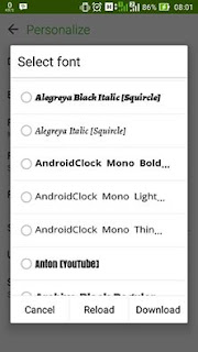 Menu Select Font Messaging Asus Zenfone 5