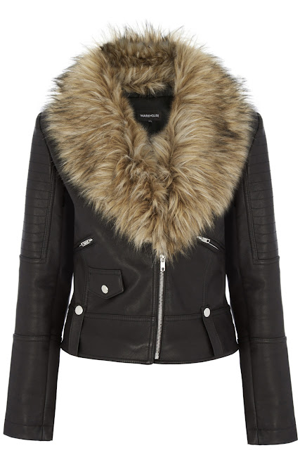warehouse leather jacket with fur collar, leather jacket fur collar,