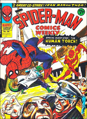 Spider-Man Comics Weekly #94, the Lizard and the Human Torch
